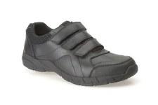 Clarks 'Air Suffolk' Boys School Shoes (Black)