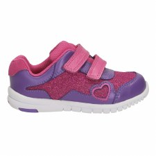 Clarks 'Azon Maze' Girls First Trainers (Pink Combi)