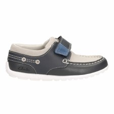 Clarks 'Balmy Drum' Boys Shoes (Navy)