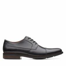 Clarks 'Becken Cap' Mens Shoes (Black)