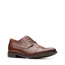 Clarks 'Becken Cap' Mens Shoes (Tan)