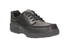 Clarks 'Bermon Lane' Boys School Shoes (Black)