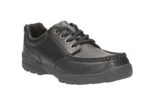Clarks 'Bermon Lane' Boys School Shoes (Black)