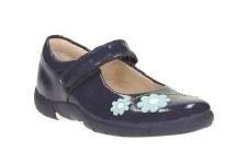 Clarks 'Binnie Jam Inf' Girls Shoes (Navy Patent)