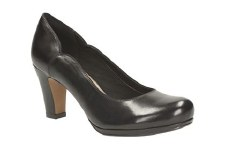 Clarks 'Chorus Nights' Ladies Wide Fitting Heels (Black)