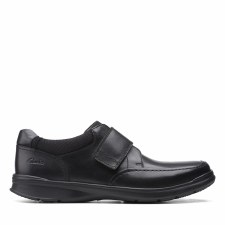 Clarks 'Cotrell Strap' Mens Shoes (Black)