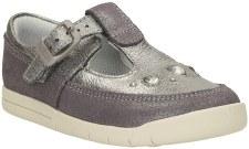 Clarks 'Crazy Dot' Girls First Shoes (Metallic)