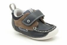 Clarks 'Cruiser Deck' First Shoes (Navy Combi)
