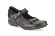 Clarks 'DaisyGleam Inf' Girls School Shoes (Black)