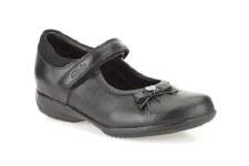 Clarks 'DaisyGleam Inf' Girls School Shoes (Black)