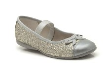 Clarks 'Dance Sparkle' Girls Ballerina Shoes (Silver)