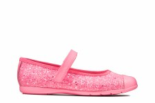 Clarks 'Dance Tap Kids' Girls Shoes (Hot Pink)