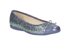 Clarks 'Dance Zing Jnr' Girls Pomps (Blue)