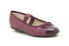 Clarks 'DanceSpark' Girls Party Shoes (Wine)