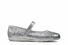 Clarks 'Dance Tap Kids' Girls Shoes (Silver)