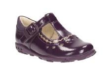 Clarks 'Ella Alice' Girls First Shoes (Purple)