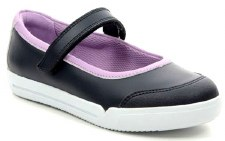 Clarks 'Emery Halo Toddler' Girls Shoes (Navy)