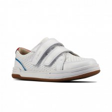 Clarks 'Fawn Solo Toddler' Boys Shoes (White)