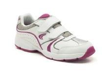 Clarks 'FluencyJet Jnr' Girls Sport Shoes (White)