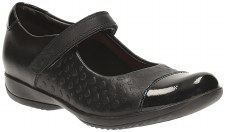 Clarks 'FriendPlay Inf' Girls School Shoes (Black)
