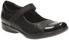 Clarks 'FriendPlay Inf' Girls School Shoes (Black)