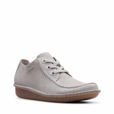 Clarks 'Funny Dream' Womens Shoes (Light Grey)