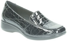 Clarks 'Gael Angora' Ladies Wide Fitting Shoes (Black Croc)