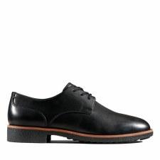 Clarks 'Griffin Lane' Ladies Shoes (Black Leather)