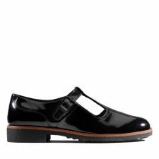 Clarks 'Griffin Town' Ladies Shoes (Black Patent)