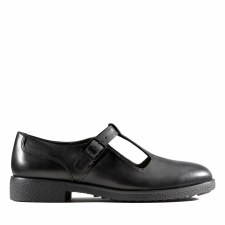Clarks 'Griffin Town' Ladies Shoes (Black Leather)