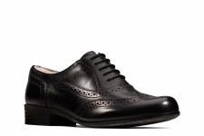 Clarks 'Hamble Oak' Leather Brogues (Black)