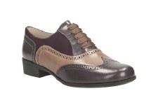 Clarks 'Hamble Oak' Leather Brogues (Purple Combi)