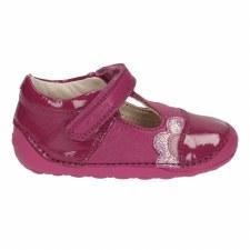 Clarks 'Little Caz' Girls First Shoes (Pink)