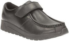 Clarks 'Mistro Trek BL' Boys School Shoes (Black)