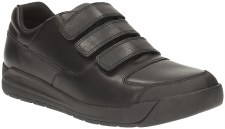 Clarks 'Monte Lite BL' Boys School Shoes (Black)