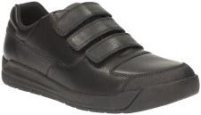 Clarks 'Monte Lite BL' Boys School Shoes (Black)