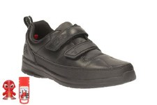 Clarks 'ReflectAce Inf' Boys School Shoes (Black)