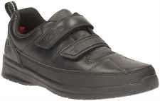 Clarks 'ReflectAce Jnr' Boys School Shoes (Black)