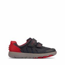 Clarks 'Rex Play Toddler' Boys Shoes (Navy/Red)