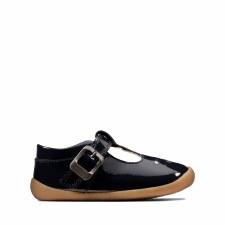 Clarks 'Roamer Spark' Girls Pre Shoes (Navy Patent)