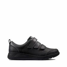 Clarks 'Scape Sky' Boys School Shoes (Black)