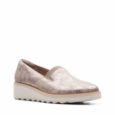 Clarks 'Sharon Dolly' Ladies Shoes (Pewter)