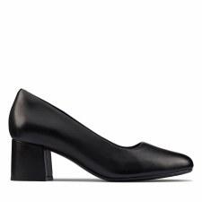 Clarks 'Sheer55 Court' Ladies Heels (Black)