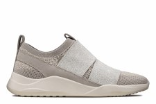 Clarks 'Sift Slip' Ladies Shoes (Silver)