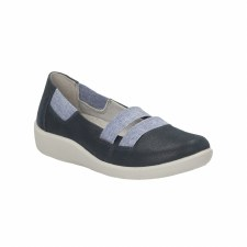 Clarks 'Sillian Rest' Wide Fitting Ladies Shoes (Navy)
