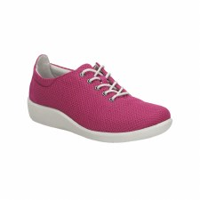 Clarks 'Sillian Tino' Ladies Wide Fitting Shoes (Fuchsia)