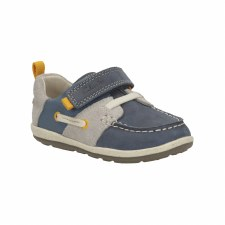 Clarks 'SoftlyBoat' Boys First Shoes (Navy Combi)