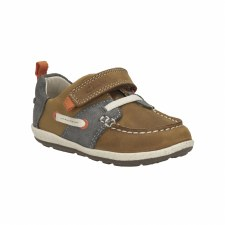 Clarks 'SoftlyBoat' Boys First Shoes (Tan)