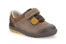 Clarks 'Softly Seb Fst' Boys First Shoe (Brown Combi)