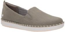 Clarks 'Step Glow Slip' Ladies Shoes (Olive)